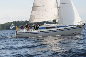 Tampereen Kotkien Laivue purjehtii Näsijärvellä