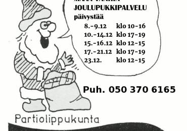 Tampereen Kotkien Laivueen pukkipalvelun puhelinpäivystys numerossa 050 370 6165