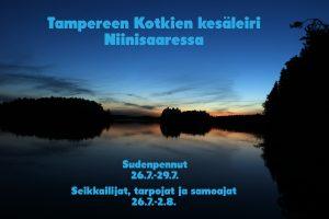 Tampereen Kotkien kesäleiri Niinisaaressa 26.7.-2.8.